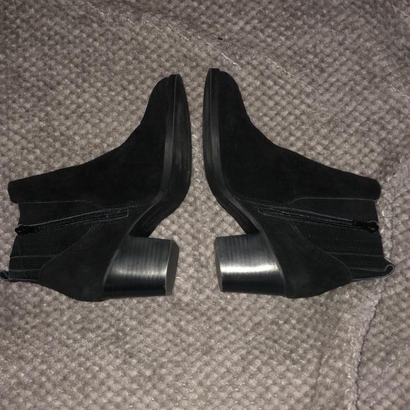 Crown vintage leather / suede black bootie - 7